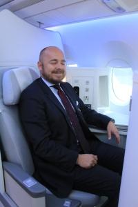 Eksempel på veldig god dag på jobben som konsulent - tester Finnairs nye Airbus A350