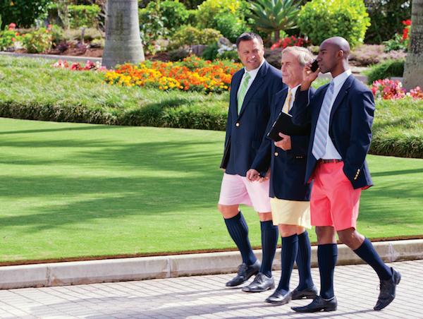 Bankiere på Bermuda i Bermudashorts. Foto: GoToBermuda.com