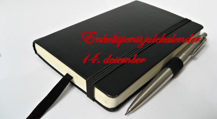 Notatbok og en godpenn
