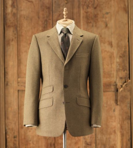 Klassisk treknaps tweedjakke fra Purdey