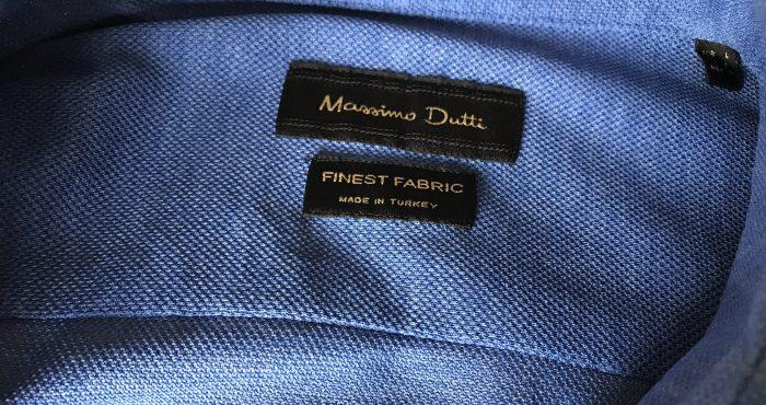 Skjorte i piquet-vev fra MassimoDutti